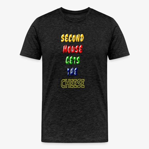 Second Mouse Gets The Cheese - Spaß T-Shirt - Männer Premium T-Shirt