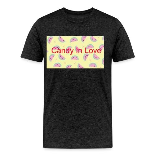 Merchandise Candy In Love - Mannen Premium T-shirt