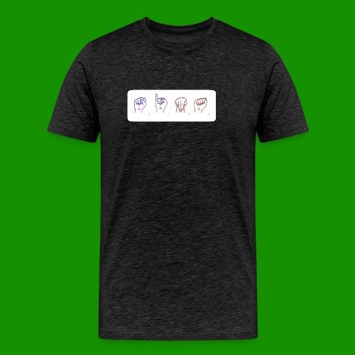 Sina Fingersprache - Männer Premium T-Shirt