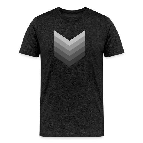 Chevrons gris - T-shirt Premium Homme