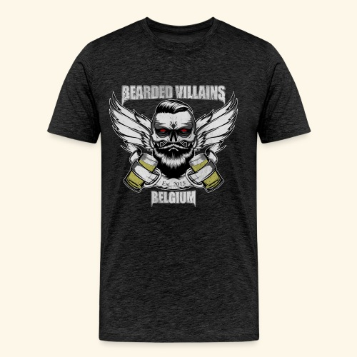 Bearded Villains Belgium - Men's Premium T-Shirt
