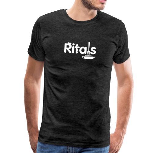 Logo Ritals bianco negativo - Maglietta Premium da uomo