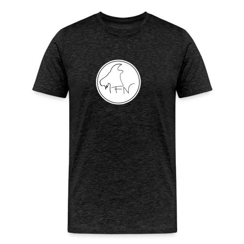 FN-Logo Weiss - Männer Premium T-Shirt