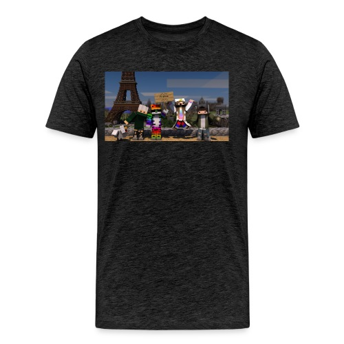 Paris Minecraft Bild mit Mir, Luka, Helena - Männer Premium T-Shirt