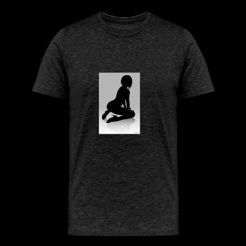 The Silhouette Is A Lady - Men's Premium T-Shirt