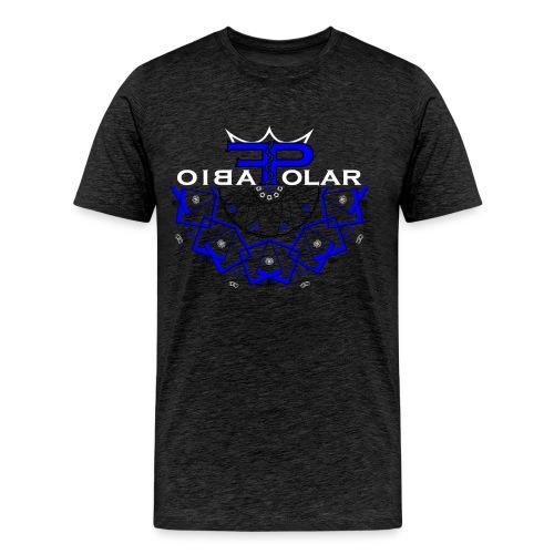 Cubical Polar blue - Männer Premium T-Shirt