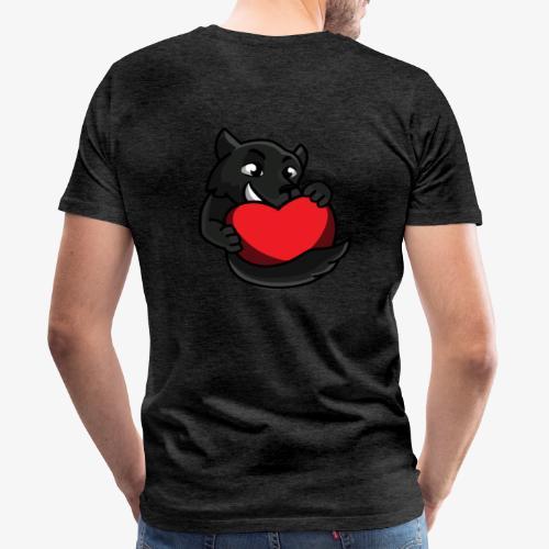 HumanReactionTV Wolf Love - Männer Premium T-Shirt