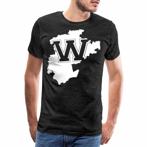BARNIM LANDKARTE BRANDENBURG - Männer Premium T-Shirt