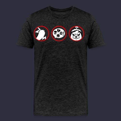 Kuutti | VAROITUS - Miesten premium t-paita