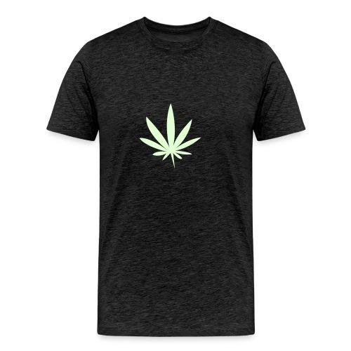 Löv vit - Premium-T-shirt herr