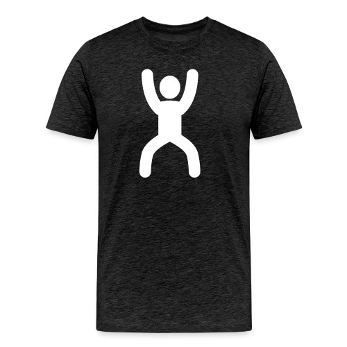 happy stretching woman - Men's Premium T-Shirt