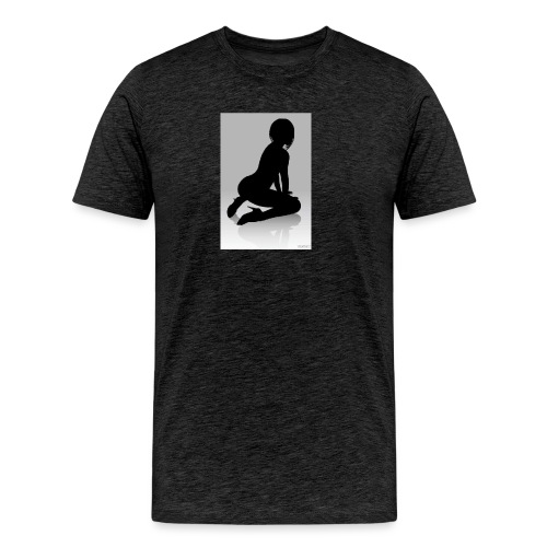 The Silhouette Is A Lady - Men's Premium T-Shirt
