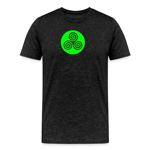 Reverse Triskel, Triskelion Vector - Men's Premium T-Shirt