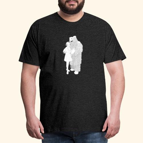 Girl with Bear - Männer Premium T-Shirt
