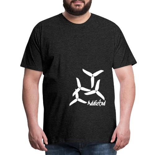 addicted (white) with props - Mannen Premium T-shirt