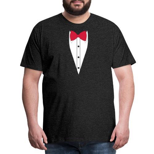 Anzug mit Fliege - Männer Premium T-Shirt