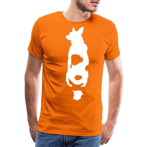 sitzender Hund von hinten 01 - Männer Premium T-Shirt