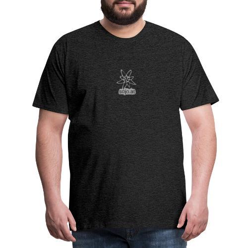 sojo.at Logo (Edelweiß und Sagzahn mit Schriftzug) - Männer Premium T-Shirt