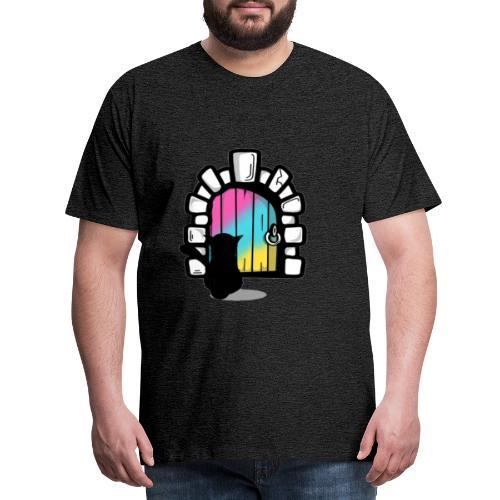 Schwarze Katze 2020 (Tür) - Männer Premium T-Shirt