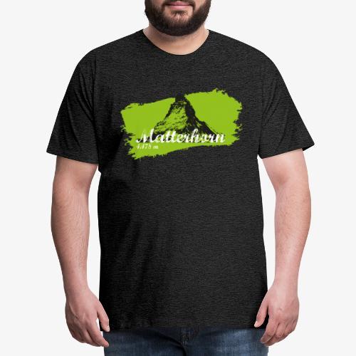 Matterhorn - Matterhorn in green - Men's Premium T-Shirt