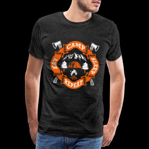 Eat Sleep Camp - Camper T-Shirt - Männer Premium T-Shirt