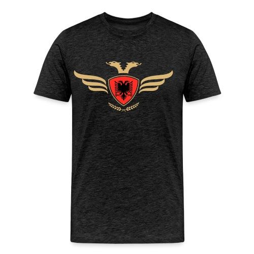 Albanien Flagge / Wappen Albaner Doppelkopfadler - Männer Premium T-Shirt
