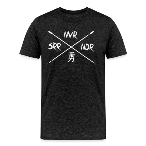 nvr srrndr2 png - Männer Premium T-Shirt