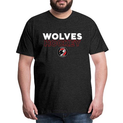 Wolves Hockey - Männer Premium T-Shirt