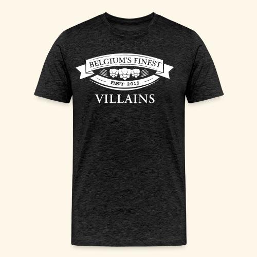 BelgiumFinestEst2015Villains full white - Men's Premium T-Shirt