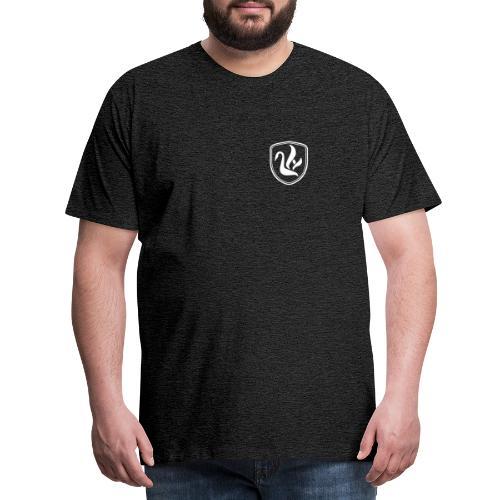 Weißer Schwan Wappen - Männer Premium T-Shirt