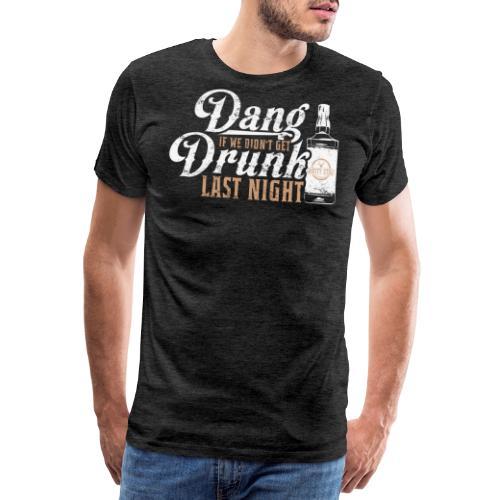 DangDrunkWhite 01 png - Men's Premium T-Shirt