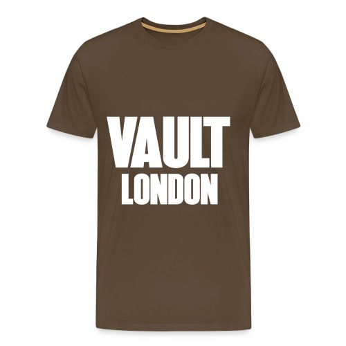 VAULT LONDON block white - Men's Premium T-Shirt