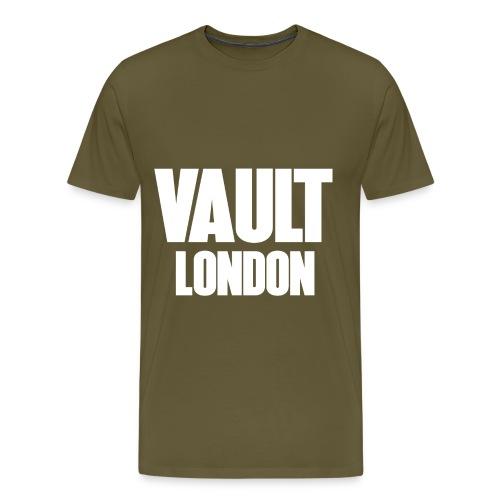 VAULT LONDON block white - Men's Premium T-Shirt
