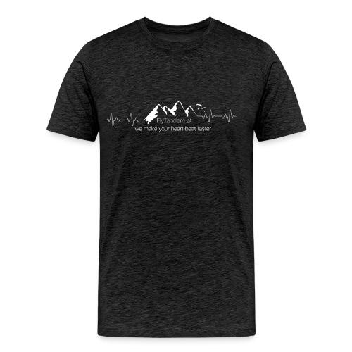 heartbeat weiß - Männer Premium T-Shirt