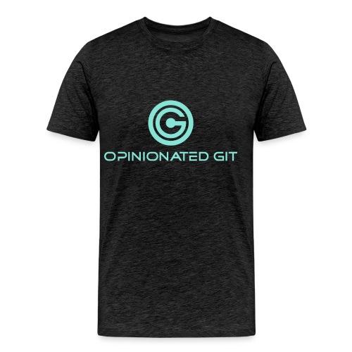 opinionatedgitlogowithtext - Herre premium T-shirt