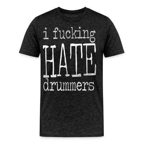 type scratches white - Men's Premium T-Shirt