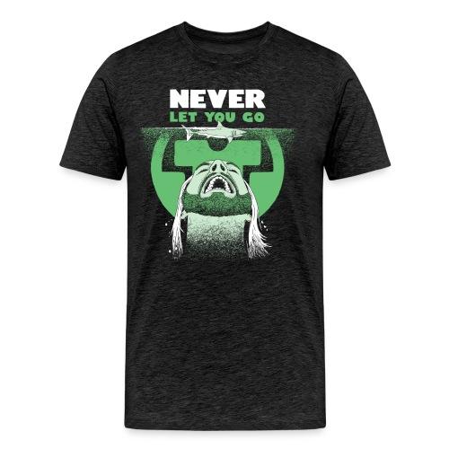 neverletyougo layout png - Herre premium T-shirt