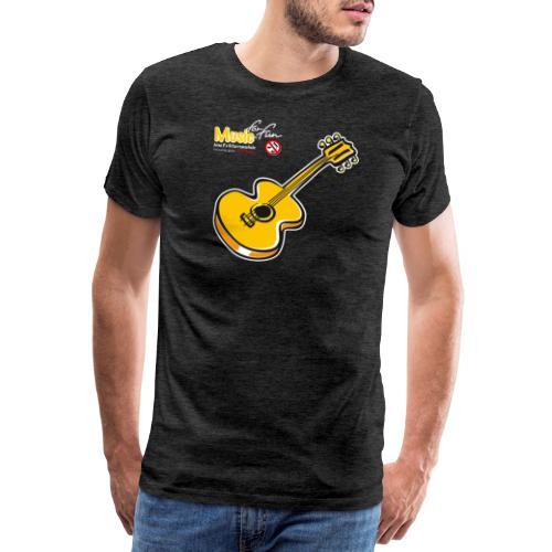MusicForFun - dunkler Hintergrund - Männer Premium T-Shirt