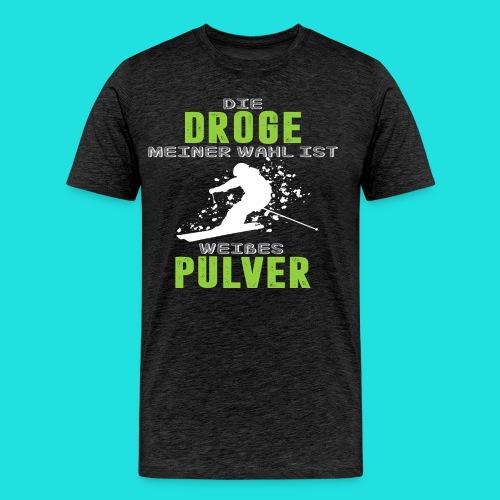 Ski fahren Droge - Männer Premium T-Shirt