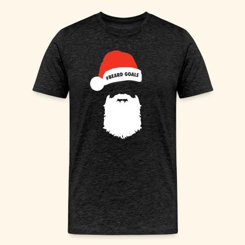 Beard Goals Santa - Men's Premium T-Shirt
