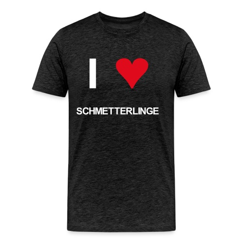 I love schmetterlinge - Männer Premium T-Shirt