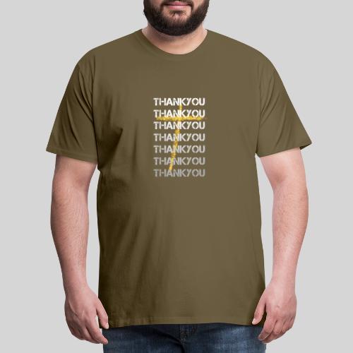 DANKE Jesus, das Geschenk für Christen THANKYOU - Männer Premium T-Shirt