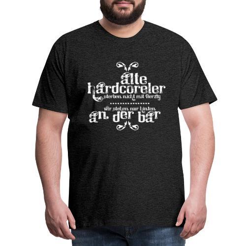 Hardcoreler sterben nicht mit 40 (white) - Männer Premium T-Shirt