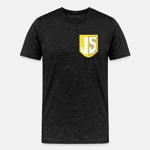 JavaScript Pixelart Logo - Männer Premium T-Shirt
