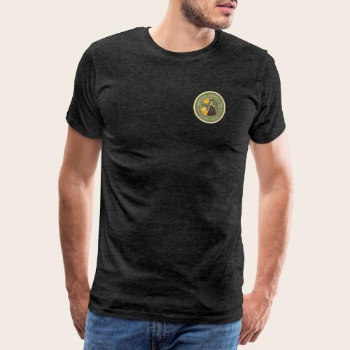 Mountains, Marmots & Sun - Badge - T-shirt Premium Homme