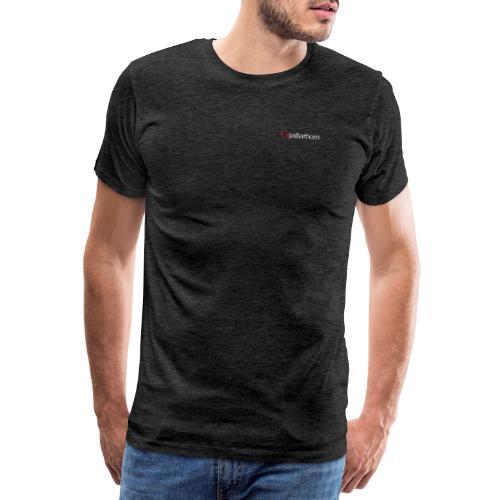 Logo - hvit - kun tekst - bryst - liten - Premium T-skjorte for menn