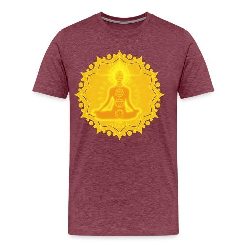 Yoga Lotus Meditation Chakren III - Männer Premium T-Shirt