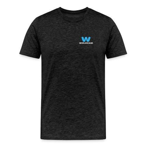 Logo Bryst Hvit - Premium T-skjorte for menn
