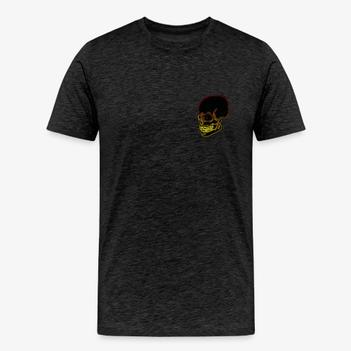 Funky red and yellow neon skull - Men's Premium T-Shirt