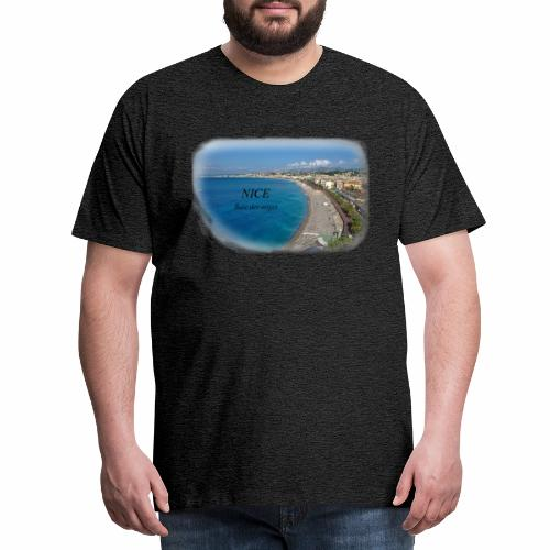 NiceBaieDesAnges vue du de la coline du chateau - T-shirt Premium Homme